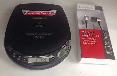 Technics Portable Cd Compact Disc Player Sl-Xp170 Slxp170 Mash - Made In Japan