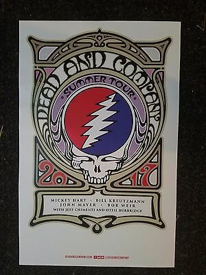 Dead and Compay Co. 11x17 2017 concert promo tour poster