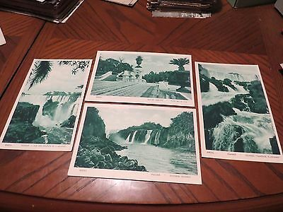Vintage Postcard Set Collection X 4 Brazil Brasil Bresil As Described Waterfall