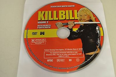 Kill Bill Vol. 2 (DVD)Disc Only Free Shipping 6-236
