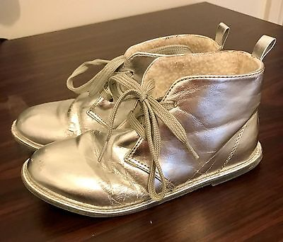 Girls Silver Boots Size 11