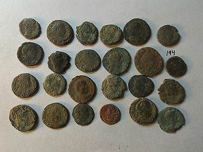 Lot of 24 Quality Uncleaned Ancient Late Roman Coins