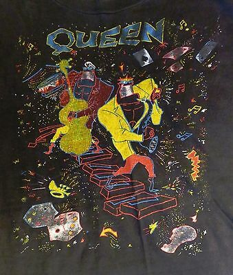 Queen 1986 It's A Kind Of Magic Tour Concert T-Shirt Lg Vintage Freddie Mercury