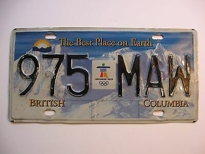 Vancouver 2010 Olympic License Plate