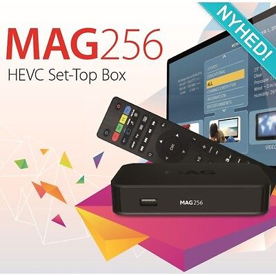 Mag 256 smart tv box IPTV VOD Genuine 12 months UK Sub warranty Plug And Play !!