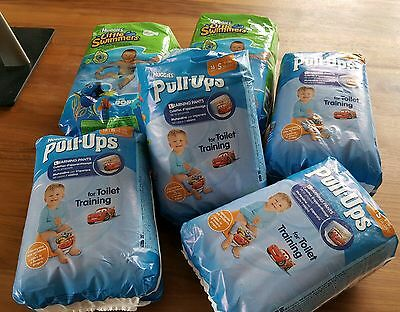 Huggies Pull Up Boys And Little Swimmer Nappies