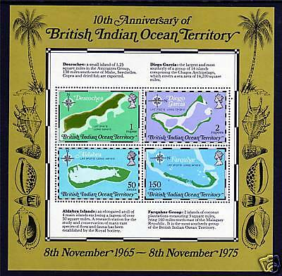 British Indian Ocean Territory1975 10th Anniv.of Territory MS SG 85 MNH