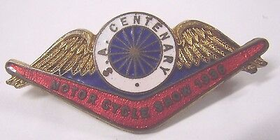 1936 South Australia Centenary Motor Cycle Show Badge Pin Motorcycle Miller