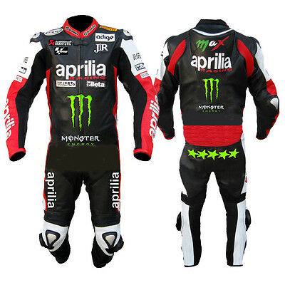 APRILIA Motorcycle Leather Suit Motorbike leather suit Riding Suit Racing Suit