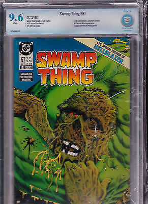 Swamp Thing #67 - CIBC 9.6 - Perfect Case - First Hellblazer