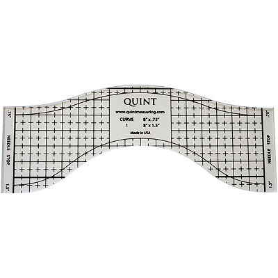 "Reverse-A-Ruler Sewing And Quilting Longarm Template-8.75""X3.5"""