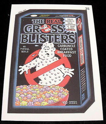 Vintage 1991 Topps WACKY PACKAGES GROSS BUSTERS GHOST Sticker Card #35