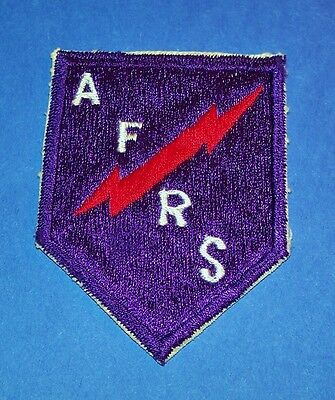 Mega-Rare Original Post Ww2 Japanese Made Silk Armed Forces Radio Service Patch!