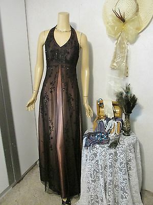 Mother Of TheBride Dress by NightWay-Size 6-Black Over Copper Beaded