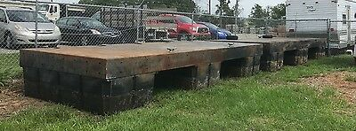 TWO 8 x 20 Work Platforms - Floating barge work boat heavy steel construction