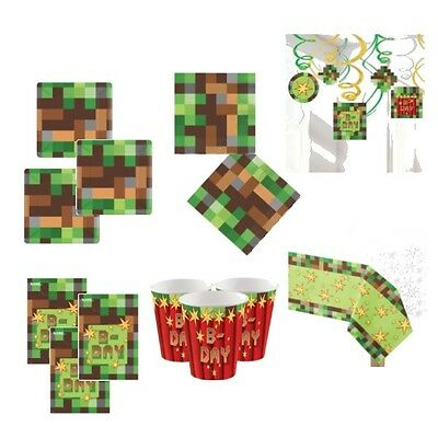 TNT Minecraft Party Supplies Pack for 8, 16 or 24 Cups Plates More
