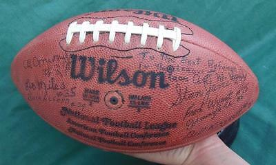 Signed Official Nfl Afc Nfc Football Ball Referees Hof Jo Greene Pittsburgh