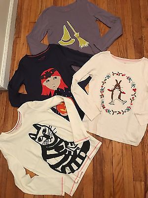 Girls Lot of 4  size 11-12Y MINI BODEN long sleeve  tops