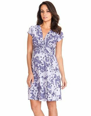 Seraphine Maternity Dress Lavender Blossom Knot front Size US 10