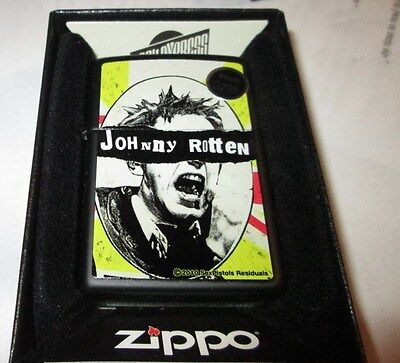 Sex Pistols Zippo Lighter Authentic 2016 Licensed Rock N Roll Johnny Rotten
