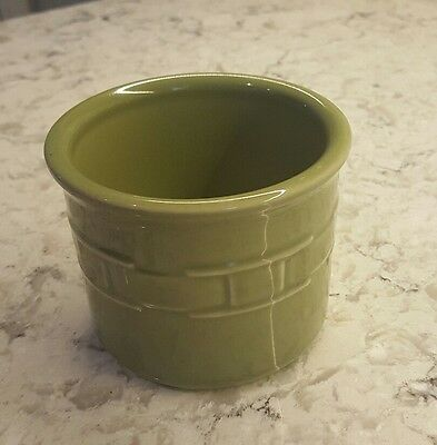Longaberger Woven Traditions One-Pint sage Crock - Made in U.S.A. - No Box