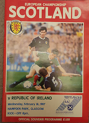 Scotland v Republic of Ireland Programme Euro Qualifiers 1987