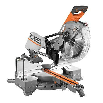 "*NEW* Ridgid 15 amp 12"" Corded Dual Bevel Compound Sliding Miter Saw + LIFETIME"