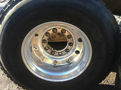 ALCOA BUDD WHEELS  HUBB  PILOTED 22-5 X 8-25 with tires
