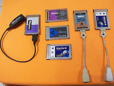 Linksys PCMCIA 10/100 Fast Ethernet LAN PC Card PCMPC100 (PLUS 5 OTHER CARDS)!