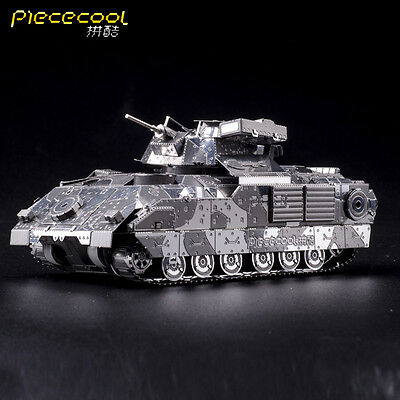 Piececool M2A2 Bradley IFV Tank 3D Metal Jigsaw Puzzle Assembly Model Kits Gifts