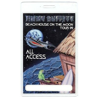 Jimmy Buffett authentic 1999 Laminated Backstage Pass Beach House on Moon Tour