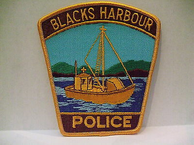 police patch  BLACKS HARBOUR POLICE NEW BRUNSWICK CANADA FISHING BOAT NEW STYLE