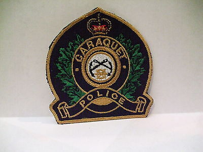 police patch  CARAQUET POLICE NEW BRUNSWICK CANADA