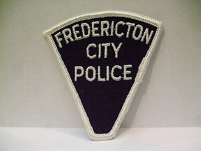 police patch  FREDERICTON CITY POLICE NEW BRUNSWICK CANADA