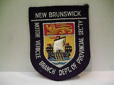 police patch  NEW BRUNSWICK CANADA MOTOR VEHICLE BRANCH ENGLISH ONLY