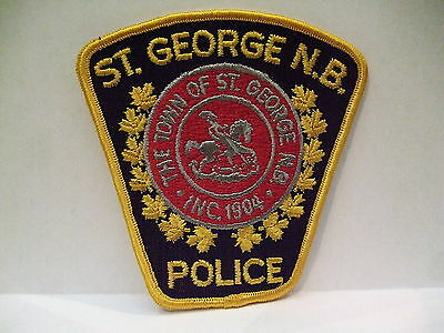 police patch  ST GEORGE POLICE NEW BRUNSWICK CANADA