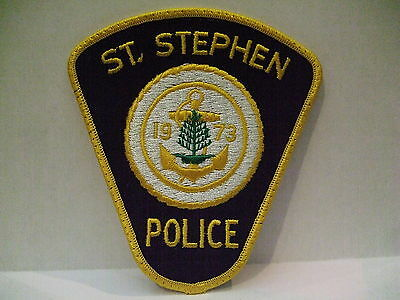 police patch  ST STEPHEN POLICE NEW BRUNSWICK CANADA  1973