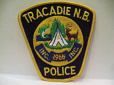 police patch  TRACADIE POLICE NEW BRUNSWICK CANADA