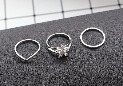 3Pcs/set Celebrity Women Fashion Simple Toe Ring  Foot Ring Beach Jewelry