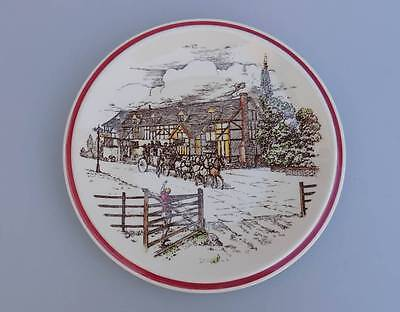 Vernon Kilns California Pottery Bits of Old England Coaching Inn & Coach Plate 5