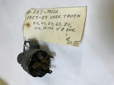 NOS Delco-Remy Ignition Switch #537 1957-1959 Chev Truck