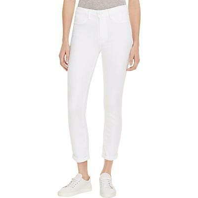 Paige 7424 Womens Hoxton White High Rise Crop Skinny Skinny Jeans 26 BHFO