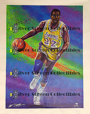 Magic Johnson - La Lakers - Autographed Canvas