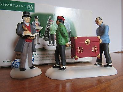 Dept 56 Dickens Village 1999 Fine Asian Antiques Set of 2 Retired