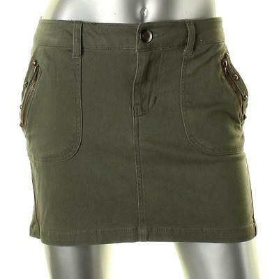 Teen Vogue 6162 Womens Green Stretch Studded Mini Skirt Juniors S BHFO