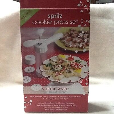 Spritz Cookie Press Set Nordic Ware 12 Discs Christmas Cookie Press Cutter
