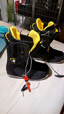 Burton Imperial Black Size 10 Mens Snowboard Boots - Feels like Size 8.5