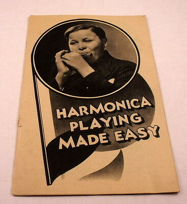 Vintage Harmonica Playing Made Easy, Song Book, Instructions, Hohner,