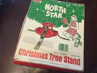 1950's new Vintage Christmas Tree Stand North Star