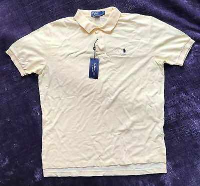 Authentic Ralph Lauren Mens Polo Shirt Wicket Yellow XL classic fit